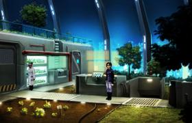 Lao investigates a hydroponic plant lab