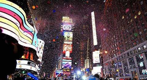 New Year's Eve in Times Square is cold cold cold. I prefer watching it this way. On TV.