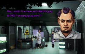Lao interviewing a sympathetic witness in a murder case