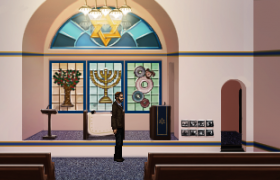 An uptown synagogue